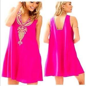 Lilly Pulitzer silk dress pink XXS